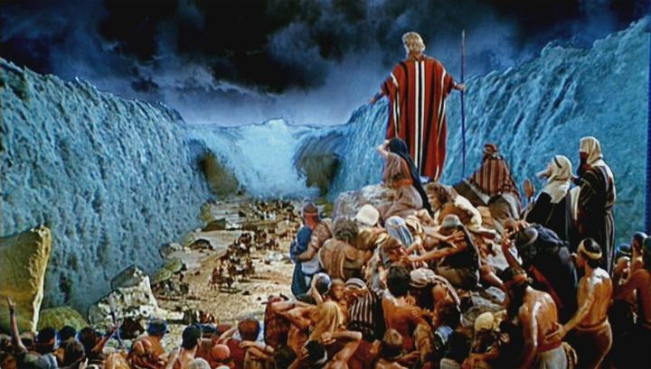 Moses teilt das Meer im Jahr 1956.