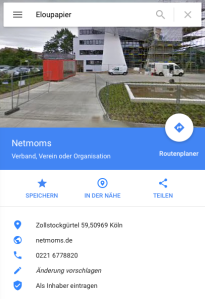 Doch Eloupapier führt uns zum Kölner Verein Netmoms.