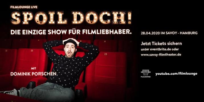 Auch 2020 geht Dominik Porschen wieder mit unserer Live-Show SPOIL DOCH! auf Tour, die ich gemeinsam mit ihm geschrieben habe.